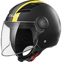LS2 Casco Moto of562 Airflow Metropolis, Matt black/yellow Long, ...