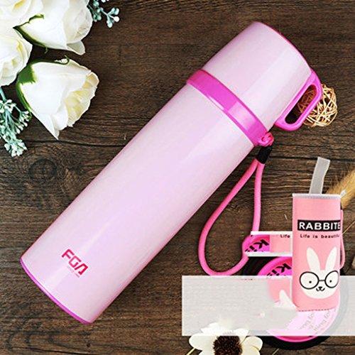 bz Coppa di isolamento per le donne Gli studenti goccia in acciaio inox proiettile - Prova di tenuta del vuoto - Coppe Proof ( colore : Rosa )