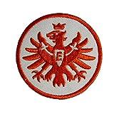 Unbekannt Eintracht Frankfurt Aufnäher, Patch Logo rot 8 cm SGE - Plus gratis Lesezeichen I Love Frankfurt