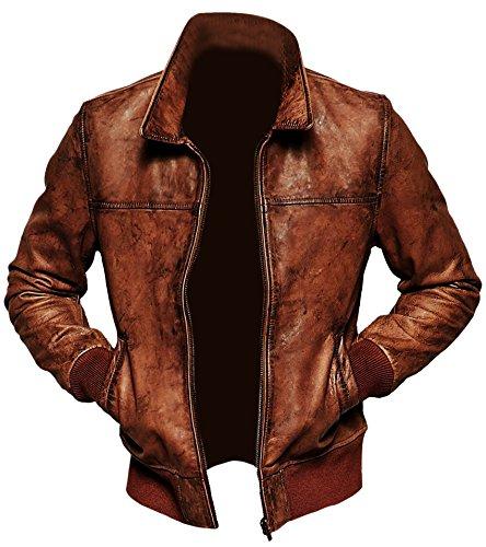Superior Leather Garments - Blouson - Homme - Marron - Medium