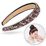 Xrten Strass Fascia di capelli,Accessori per Capelli Donna Cerchietti per Capelli Decorato con Diamanti Sintetici e Cristalli