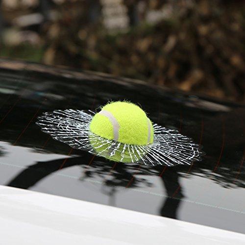 Folconroad 3D-Kugel-Autoaufkleber, kreativer Hit, Auto-Aufkleber, Weiß - Tennis-Design
