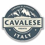 2 x 15cm/150 mm Cavalese Italie Autocollant de fenêtre en verre Voiture Van Locations #9860