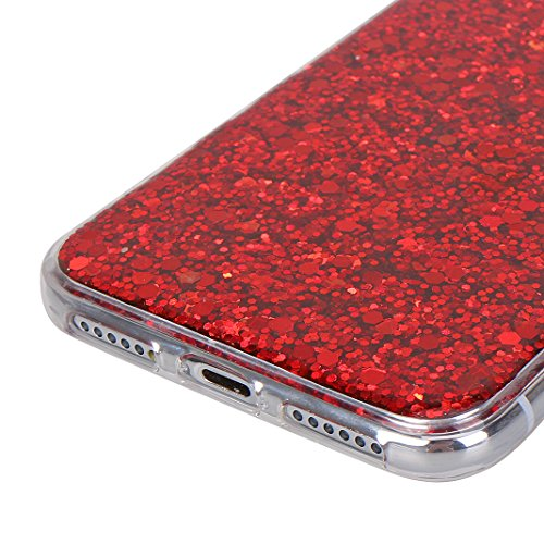 IPhone X Hulle Glitzer 10 Cover Rosa Schleife Transparent Handyhulle Soft TPU Silikon