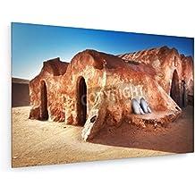 Désert du Sahara, Tunisie - 60x40 cm - Impression sur toile textile - weewado - Art mural - Villes Et Voyage