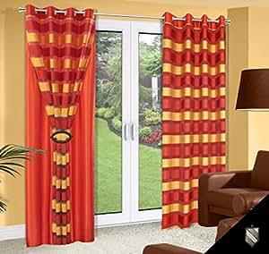 Jaune 140 x 245 brique double rideau voilage gardine rideau brickred 180_2 jaune rouge