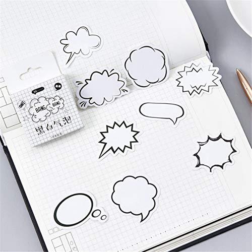 Monllack 45 Blatt Blase Design dekorative Aufkleber Selbstklebende Aufkleber DIY Dekoration Tagebuch Briefpapier Aufkleber Kinder Geschenk -
