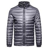 TWBB Mantel,Herren PU Winter Warme Daunenjacke Baumwollkleidung Pullover Mit Reißverschluss Outwear Sweatshirt Schlank Jacke Oberteile Tops