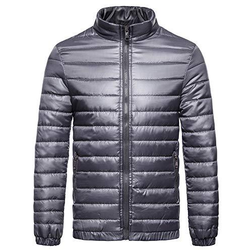 Amphia - Herren Daunenjacke Übergangsjacke Jacke,Männer Herbst Winter Casual Langarm Solide Stehen Dicker Baumwolle Outwear Top