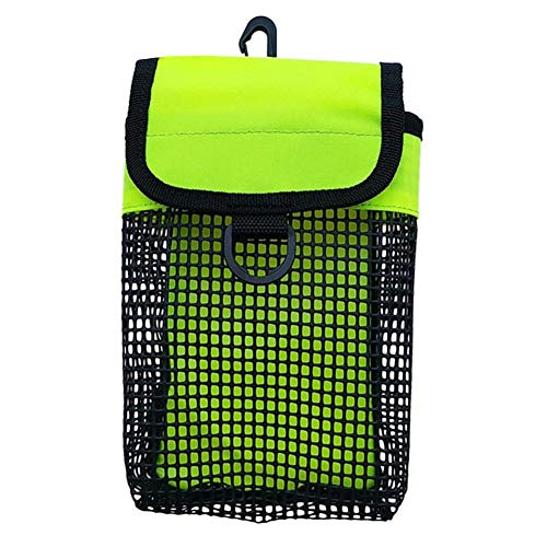 Soldmore7 Tauchen Mesh Bag, Tauchen Reel Bolt Snap & SMB Safety Marker Boje Mesh Gear Bag Ausrüstung Inhaber Carry Pouch -