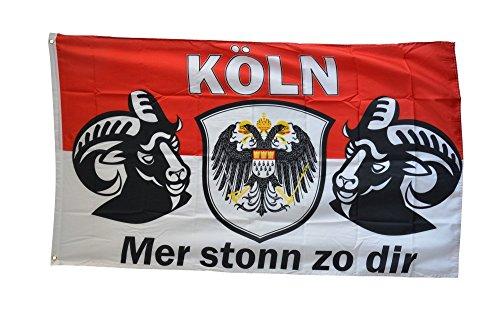Fahne / Flagge Köln Mer stonn zu dir + gratis Sticker, Flaggenfritze®
