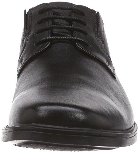 Clarks Tilden Plain, Derbies à lacets homme Noir (Black Leather)