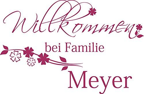 GRAZDesign Home Dekoration modern Personalisiert Name Wunschname - Bild für den Flur Geschenk Einweihung - Wandtattoo Flur Eingang Namensaufkleber / 77x50cm / 720301_50_821