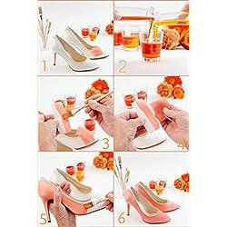 Rainbow Club Brautschuhe Josephine - Pumps, Ivory / Creme oder Weiß, Satin, Größe 39,5 - Hochzeitsschuhe, Trichterabsatz