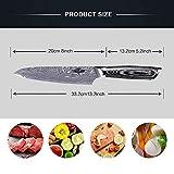 Kitchen Emperor Küchenmesser, Kochmesser 20 cm, Allzweckmesser Scharfe Klinge, Prämie Rostfreier Stahl Chef Messer mit pakakaholzgriff