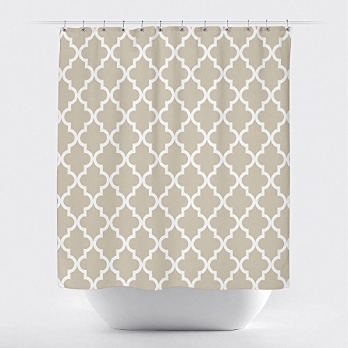 metric Gemustert Wasserdicht 100% Polyester Stoff Lange Vorhang für die Dusche für Badezimmer groß Grau Schwarz 48