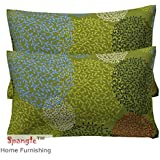 Spangle 104 TC Jaipuri Print 100% Pure Cotton Pillow Cover Set (2 Pcs)
