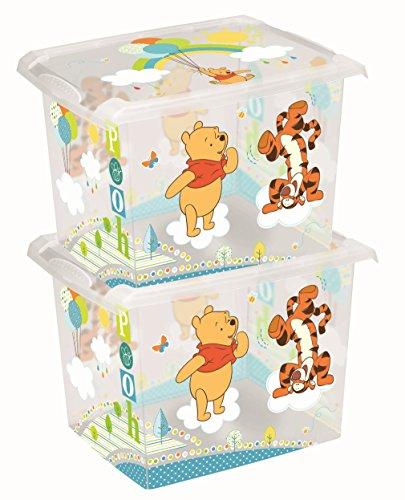 *2 x Spielzeugkiste Spielzeugbox Box Fashion-Box Disney Winnie Pooh 20 L*