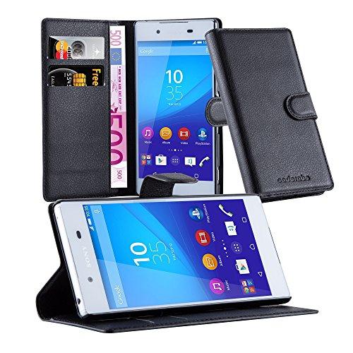 Cadorabo - Custodia a Libro per Sony Xperia Z3 Plus, con Scomparto per Carte di Credito e Funzione leggio, Colore Nero