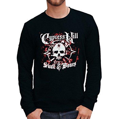 Sweatshirt Cypress Hill Skull & Bones - Musik By Mush Dress Your Style - Herren-L Schwarz (Shirt Herren Cypress)