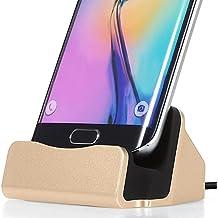 ONX3 (Gold) Sony Xperia C5 Ultra / Sony Xperia C5 Ultra Dual Escritorio Base Micro USB Soporte de Sincronización de Datos Carga Estación de Acoplamiento