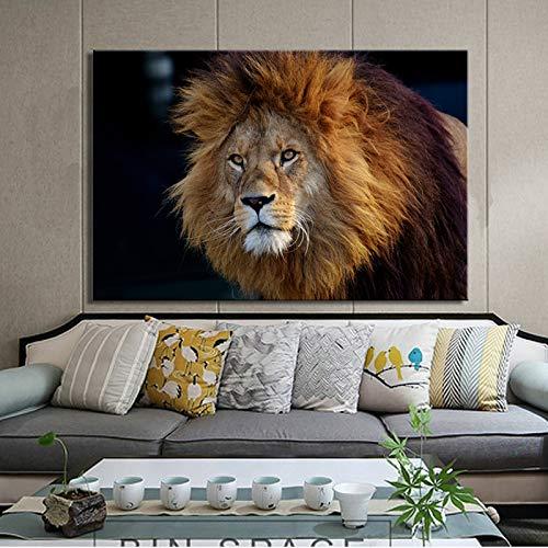 NIMCG Poster e Stampe Animalier su Tela Arte Moderna Pittura su Tela Panda Leone Cervo Tigre Cavallo Foto per Decorazione Soggiorno (Senza Cornice) A2 60x90CM