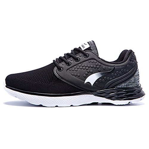 ONEMIX Air Baskets Chaussures Jogging Course Gym Fitness Sport Lacet Sneakers running Sport Compétition Trail Homme Femme ete Baskets Black White