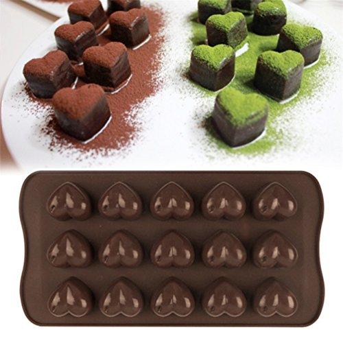Bismarckbeer, stampo in silicone a forma di cuore per realizzare biscotti, cioccolatini, cubetti di ghiaccio, gelatina, caramelle