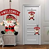 ILOVEDIY Türanhänger Welcome Weihnachtsmann Anhänger Stoff Schmuck Schneemann Deko Hängend Innen und Aussen für Ihre Tür, Kamin oder Wand (Weihnachtsmann)