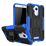 #7: Kaira Hard Armor Hybrid Rubber Bumper Flip Stand Rugged Back Case Cover for Coolpad Note 5 (Blue)