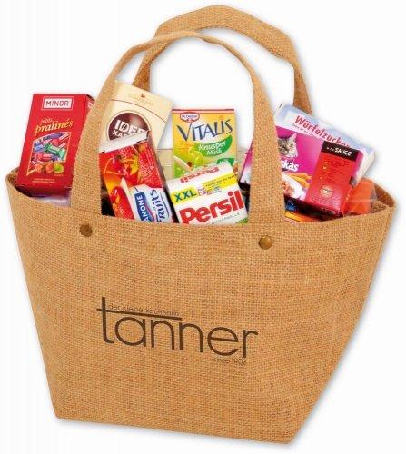 Tanner Jute Einkaufstasche gefüllt