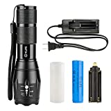 CVLIFE-Tactical-Torch-CREE-T6-LED-Torch-Lamp-Portable-Rechargeable-Zoomable-Waterproof-Flashlight-with-One-18650-Battery-A-Charger