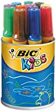 BIC Kids Decoralo Feutres de Coloriage à Pointe Extra Large - Couleurs Assorties, Pot de 12