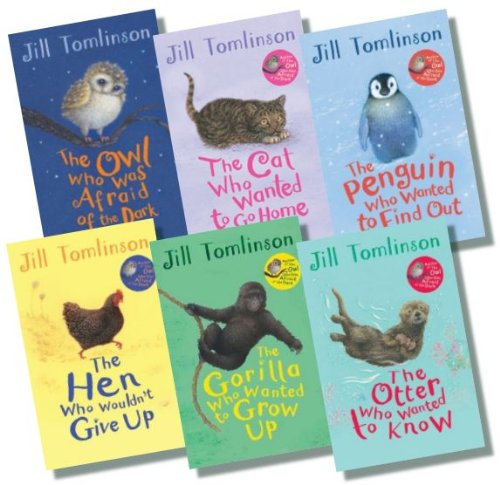 Jill Tomlinson Collection ? 6 books, RRP £35.94, (The Owl Who Was Afraid of the Dark; The Otter Who Wanted to Know; The Cat Who Wanted to Go Home; The Penguin Who Wanted to Find Out; The Gorilla Who Wanted to Grow Up; The Hen Who Wouldn't Give Up)