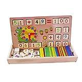 HXSS blocco di legno di aritmetica Numero e ora con il conteggio Rods Box per i bambini, in età prescolare giocattoli educativ