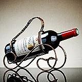 Estante de vino Arte hierro Especieros estante de vino Vino Vino portavasos porta vasos 5 euro) opcional en espiral, tipo de vehículo