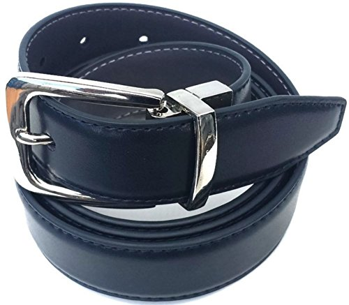 new-reversible-leather-belt-navy-and-grey-trouser-suit-2-belts-in-1-large-38-40
