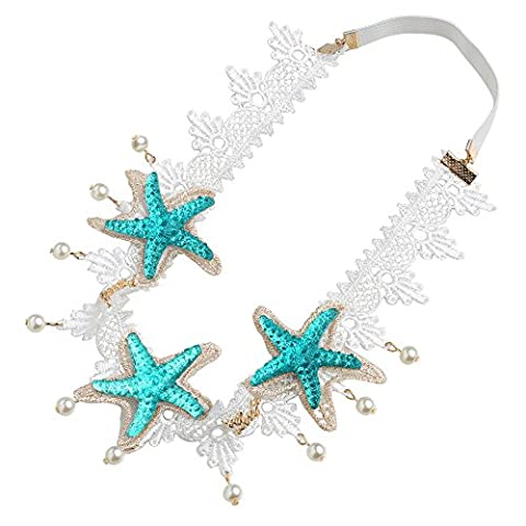 Mermaid Costume - BABEYOND Turquoise Starfish avec artificiel Pearl Beach