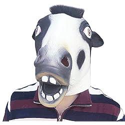 Halloween Máscara Adultos de Látex Vaca Fiesta Disfraz Animales Prop