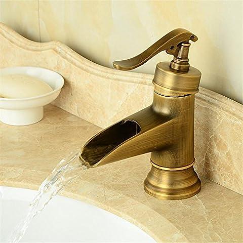 Modylee Antiquariato in ottone ponte cascata Lavatory rubinetto monocomando bagno