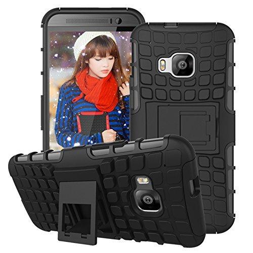 Preisvergleich Produktbild Cozyswan Cool Design Reifen Muster Handytasche Case Cover Hüllen Shockproof Outdoor Schutzhülle für HTC One M9 - Schwarz