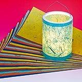 Laternenzuschnitte Bananenpapier 20x50cm, 25 Bogen, URSUS 2670099 - Martinslaterne basteln