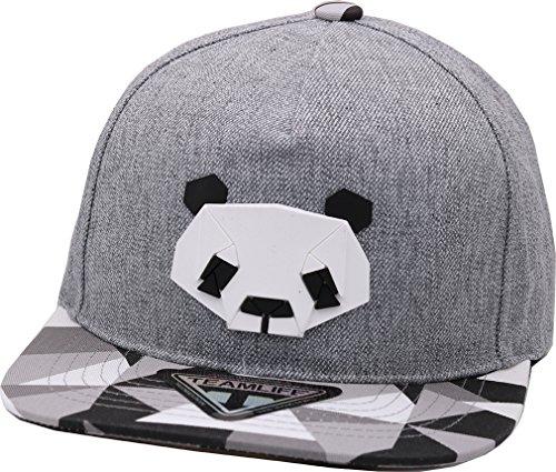 sujii Paper FOLD Animals Baseball Kappe Hysteresenhut Baseball Cap Snapback Hat-Panda/Grey/XL