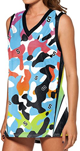 THENICE Damen Liebhaber Basketball Weste T-shirts Camouflage