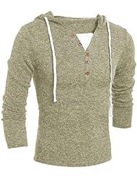 Tonsee Hommes Automne Hiver Mode Sweat à capuche en haut blouse