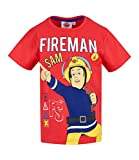 Sam el bombero Chicos Camiseta Manga Corta - Rojo - 116