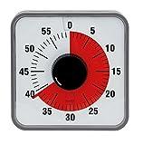 TimeTex Zeitdauer-Uhr Automatik - rote Scheibe - mit Magnet - zeigt Restzeit an - 19 x 19 cm - läuft ohne Batterien - 61975