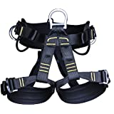 FNT Professional Rock Climbing Harness Safety Seat Sitting Bust Belt Mountaineering Rappelling Rescue Fall Arrest Protection Equipment With Gear Loops