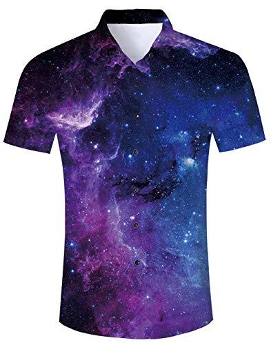 NEWISTAR Jungen Hemd Strandhemd Hawaiihemd 3D Gedruckt Kurzarm Freizeit Hemd Party Hemd Shirts