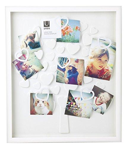 Umbra 311360-660 Lovetree Cadre Photo avec Clips Cœurs Blanc